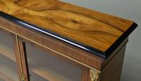 Spectacular Victorian Figured Walnut Inlaid Antique Pier Cabinet (5 of 9)