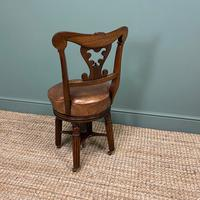 Spectacular Quality Mahogany Antique Revolving Music Chair (7 of 7)