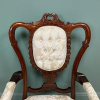 Elegant Victorian Upholstered Antique Arm Chair (7 of 7)