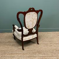 Elegant Victorian Upholstered Antique Arm Chair (6 of 7)