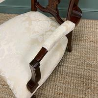 Elegant Victorian Upholstered Antique Arm Chair (5 of 7)