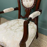 Elegant Victorian Upholstered Antique Arm Chair (4 of 7)