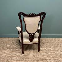 Elegant 19th Century Upholstered Antique Armchair (8 of 8)