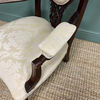 Elegant 19th Century Upholstered Antique Armchair (7 of 8)