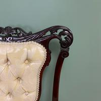 Elegant 19th Century Upholstered Antique Armchair (5 of 8)