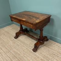 High Quality William IV Mahogany Antique Side Writing Table (7 of 7)