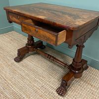 High Quality William IV Mahogany Antique Side Writing Table (6 of 7)