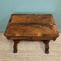 High Quality William IV Mahogany Antique Side Writing Table (3 of 7)