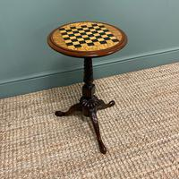 High Quality Victorian Mahogany Antique Drafts Table / Chess Table (7 of 7)