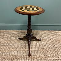 High Quality Victorian Mahogany Antique Drafts Table / Chess Table (4 of 7)