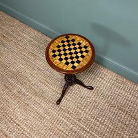 High Quality Victorian Mahogany Antique Drafts Table / Chess Table (3 of 7)