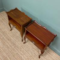 Pair of Edwardian Mahogany Antique Bedside Tables / Cabinets by Morison & Co (6 of 8)