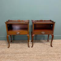Pair of Edwardian Mahogany Antique Bedside Tables / Cabinets by Morison & Co (2 of 8)