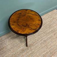 Beautifully Figured Victorian Walnut Antique Occasional Table (7 of 7)