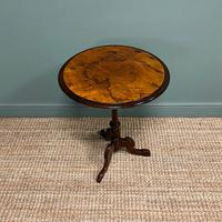 Beautifully Figured Victorian Walnut Antique Occasional Table (2 of 7)