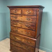 Georgian Mahogany Antique Chest On Chest (5 of 9)