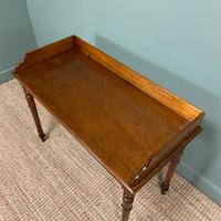 Quality Victorian Mahogany Antique Side / Writing Table (5 of 6)