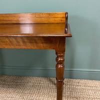 Quality Victorian Mahogany Antique Side / Writing Table (4 of 6)