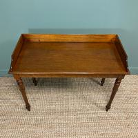 Quality Victorian Mahogany Antique Side / Writing Table (2 of 6)