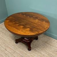 Spectacular Victorian Rosewood Antique Circular Centre Table (7 of 9)