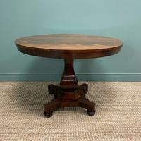 Spectacular Victorian Rosewood Antique Circular Centre Table (6 of 9)