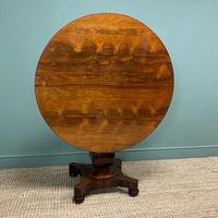 Spectacular Victorian Rosewood Antique Circular Centre Table (8 of 9)
