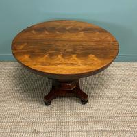 Spectacular Victorian Rosewood Antique Circular Centre Table (9 of 9)