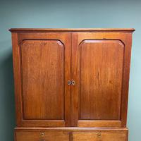 Country House Georgian Antique Teak Press Cupboard (5 of 7)