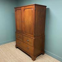 Country House Georgian Antique Teak Press Cupboard (3 of 7)