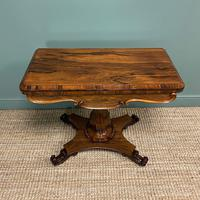 Spectacular William IV Rosewood Antique Card Table (2 of 10)