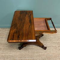Spectacular William IV Rosewood Antique Card Table (10 of 10)