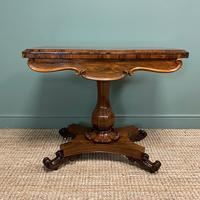 Spectacular William IV Rosewood Antique Card Table (3 of 10)