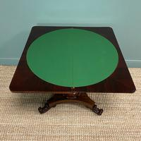 Spectacular William IV Rosewood Antique Card Table (9 of 10)