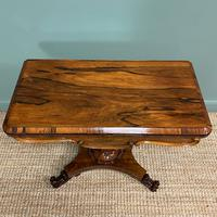 Spectacular William IV Rosewood Antique Card Table (8 of 10)