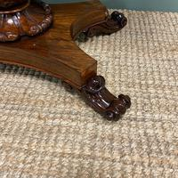 Spectacular William IV Rosewood Antique Card Table (4 of 10)