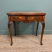 Rare 18th Century Dutch Marquetry Inlaid Antique Games Table. (2 of 11)