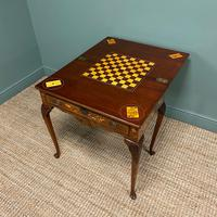 Rare 18th Century Dutch Marquetry Inlaid Antique Games Table. (7 of 11)