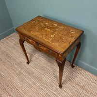 Rare 18th Century Dutch Marquetry Inlaid Antique Games Table. (6 of 11)