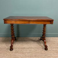 Stunning Antique Mahogany Library Table by Charles Hindley & Sons (8 of 8)