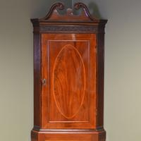 Elegant Georgian Figured Mahogany Antique Corner Cupboard on Stand (6 of 8)
