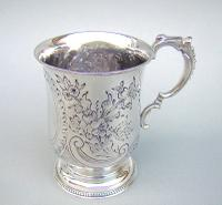 Victorian Silver Christening Mug by Hilliard & Thomason, Birmingham 1877 (2 of 6)