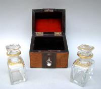 19th Century French Travelling Scent Bottle Casket c.1870 (4 of 7)