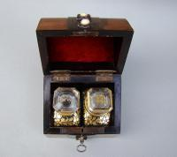 19th Century French Travelling Scent Bottle Casket c.1870 (5 of 7)