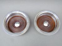 Superb Pair of Mid 20th Century Solid Silver Wine Coasters by Mappin & Webb, Birmingham 1968 (4 of 8)