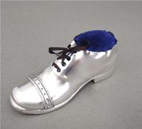 Novelty Silver Pin Cushion in the Form of a Shoe by S. Blanckensee & Sons, Birmingham 1923