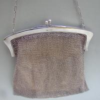 Fabulous Art Deco Solid Silver Chain-Mail Cocktail Bag by Henry Williamson Ltd, Imports Marks For London 1920