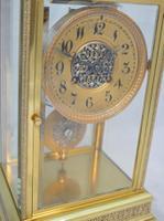 Four Glass Mantel Clock by Marti of Paris c.1900 (2 of 5)