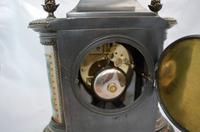 Silvered Bronze Porcelain Panelled Mantle Clock (4 of 6)