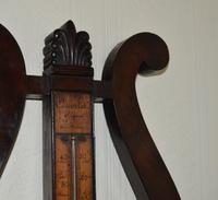 French Lyre Shaped Mahogany Barometer (2 of 5)