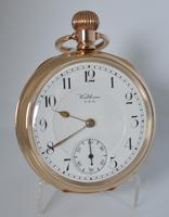 1908 Waltham Gold Plated Pocket Watch